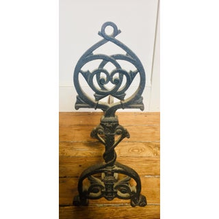 Gothic Revival Iron Andirons - a Pair Preview