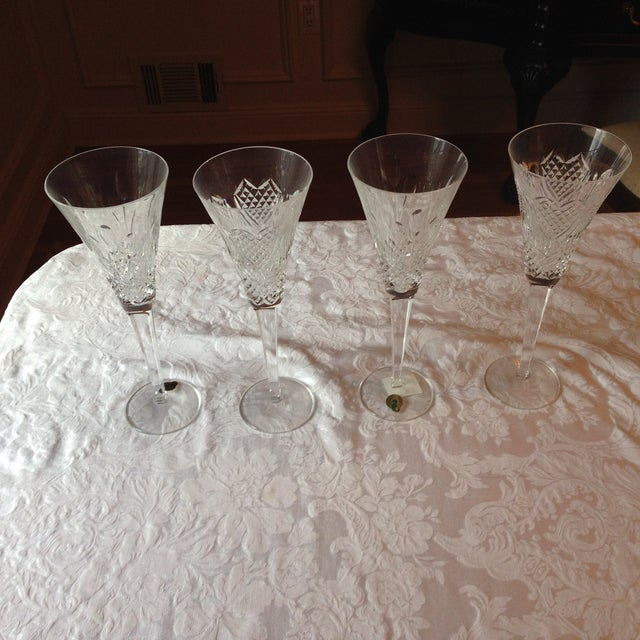 Waterford Crystal Champagne Flutes - Set of 4 - Image 3 of 5