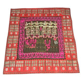 Antique Tribal Appliqué Wall Hanging For Sale