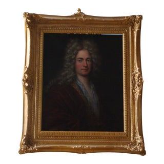 "Antique 18th Century ""Young Aristocrat en Déshabille"" Portrait Oil Painting Framed by Straure For Sale"