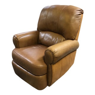 Lane Camel Colored Leather Recliner