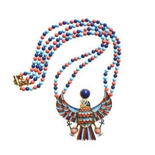 1970s Accessocraft Egyptian Revival Necklace For Sale