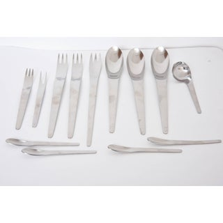 Arne Jacobsen by Anton Michelsen Space Age Modernist Stainless Flatware Set - 100 Piece Preview