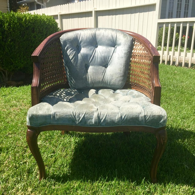 Mid-Century Cane Barrel Chair - Image 2 of 11
