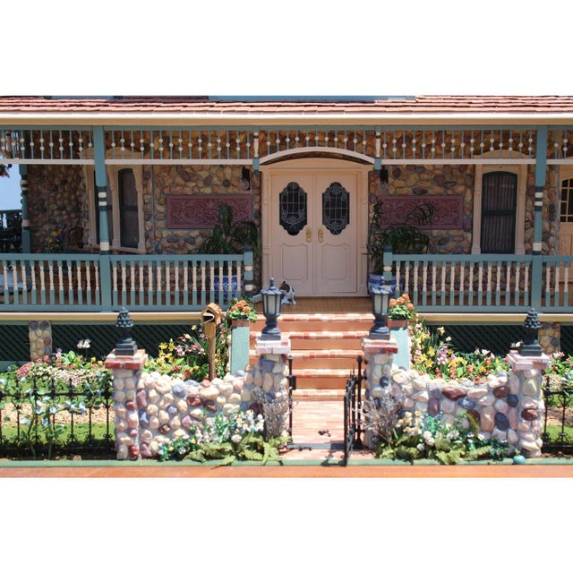 1990s Massive 7 Foot With Case Doll House From the Heritage Museum l.a on S. Calif. Architecture For Sale - Image 5 of 11