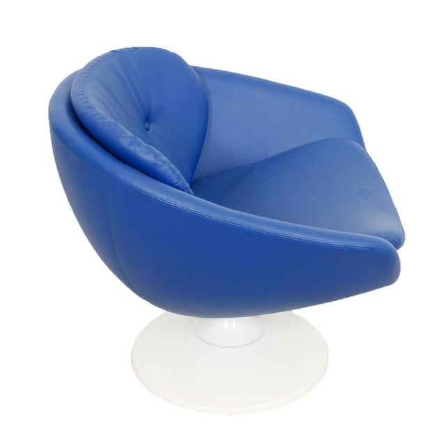 Blue 60s Swivel Pod Chair by Overman of Sweden - Image 2 of 10