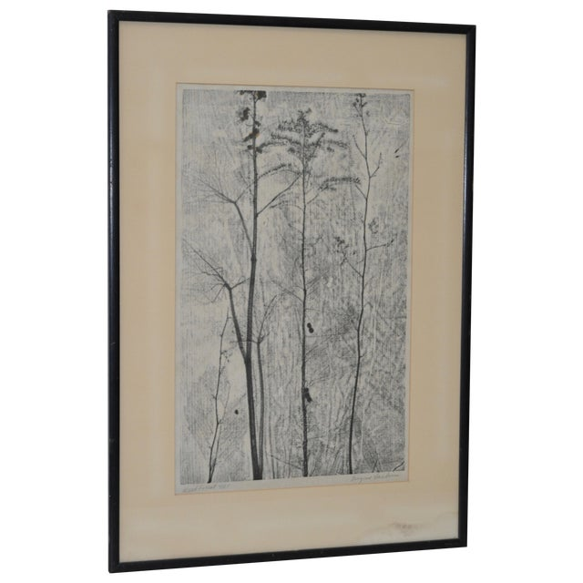 Eugene Larkin Weed Forest No. 1 Woodcut, C.1960 - Image 1 of 6