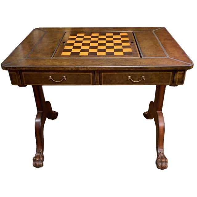 Maitland-Smith Leather Game Table For Sale - Image 10 of 10