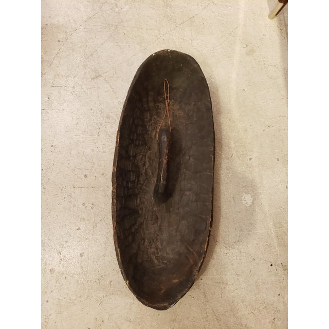 Wood Dissimilar Decorative African Shields - Set of 2 For Sale - Image 7 of 8