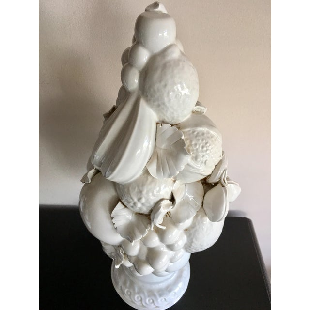 Vintage White Italian Tuscan Style White Fruit Topiary For Sale - Image 4 of 5
