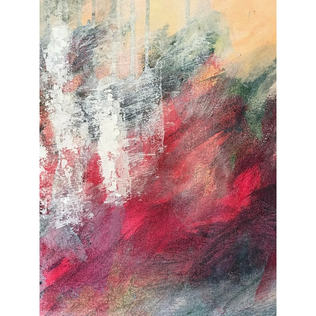 Patricia Zippin 1980s Abstract Painting Spring Cherries I For Sale In New York - Image 6 of 8