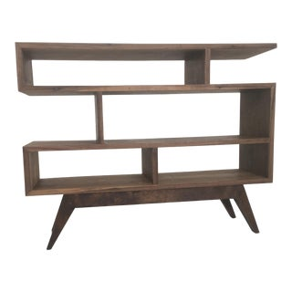 Custom Petite Staggered Shelving Unit For Sale