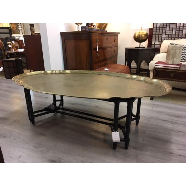 Baker Brass Tray Top Coffee Table For Sale In New York - Image 6 of 6