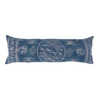 Blue & White Batik Hill Tribe Pillow For Sale