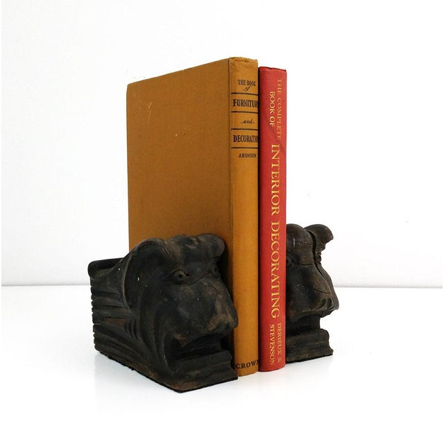 Vintage Architectural Wood Corbel Bookends - a Pair - Image 6 of 6