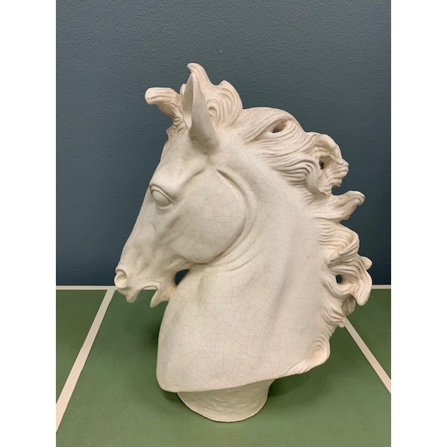 Global Views Global Views Horse Head Sculpture For Sale - Image 4 of 4