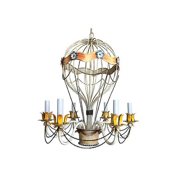 Grand Tour 1950s Italian Hot Air Balloon Chandelier For Sale - Image 3 of 6
