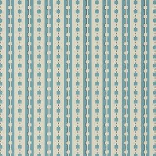 Sample - Schumacher X David Oliver Plaza Wallpaper in Blues Blue For Sale