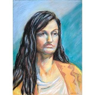 Original Pastel Portrait Drawing For Sale