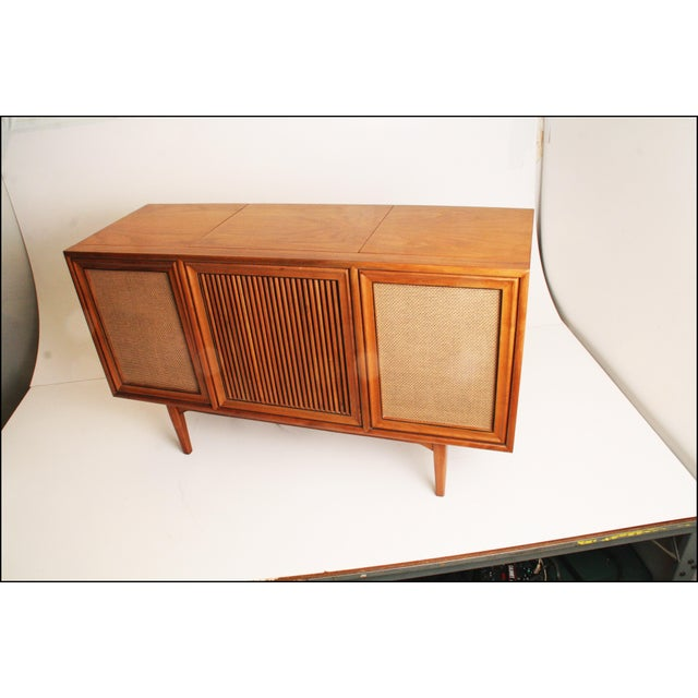 Drexel Mid-Century Modern Record Console Credenza For Sale - Image 5 of 11