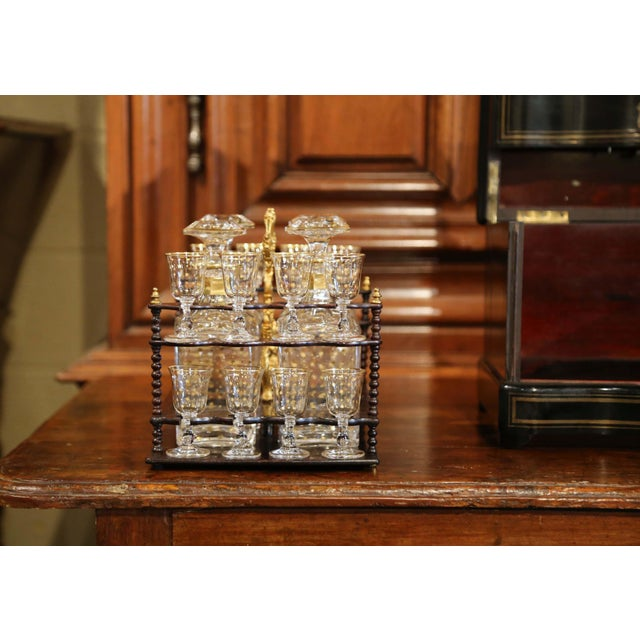 19th Century French Napoleon III Cave a Liqueur With Mother-Of-Pearl Decor For Sale - Image 11 of 13