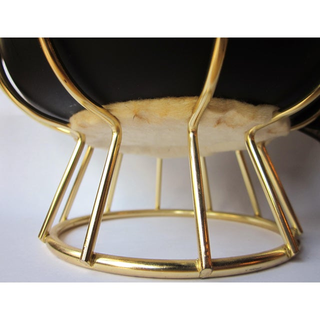 Vintage 1950s Ernest Sohn Creations Matte Black and Gold Ice Bucket For Sale - Image 9 of 10