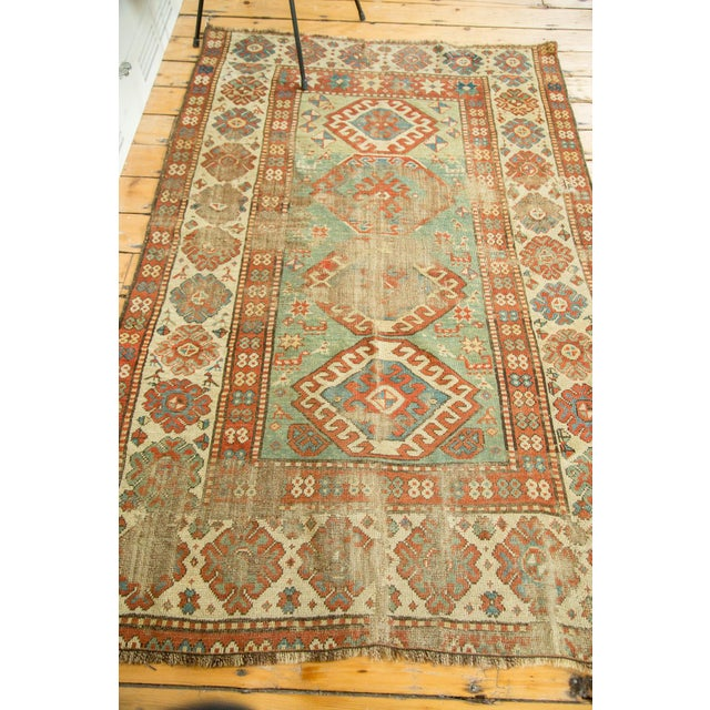 "Antique Kazak Rug - 4'2"" X 6'3"" - Image 5 of 9"