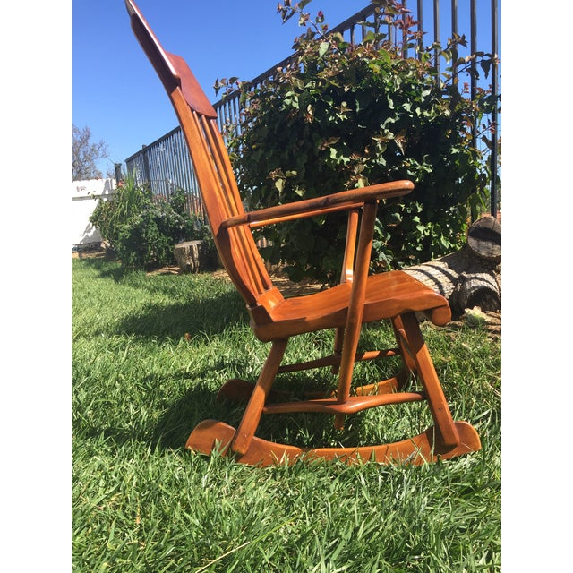 Sikes Arts and Crafts Maple Rocking Chair For Sale - Image 9 of 11