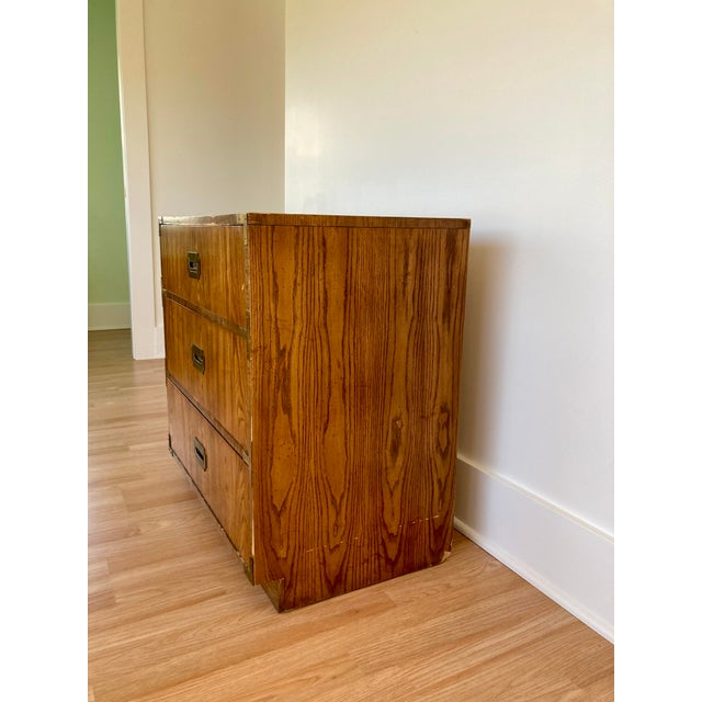 Mid-Century Modern Late 20th Century Dixie Campaign 3 Drawer Dresser For Sale - Image 3 of 13
