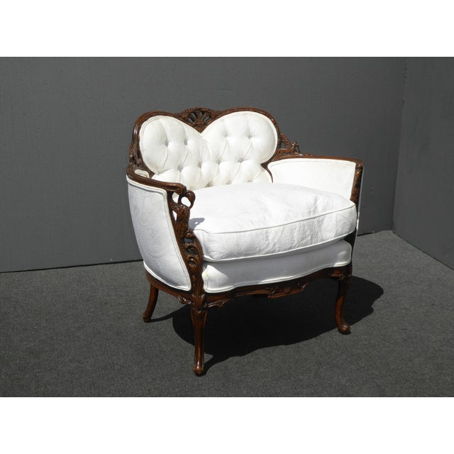 White French Rococo Ornate Chair For Sale - Image 4 of 11