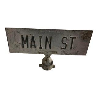 Vintage Main Street Sign For Sale