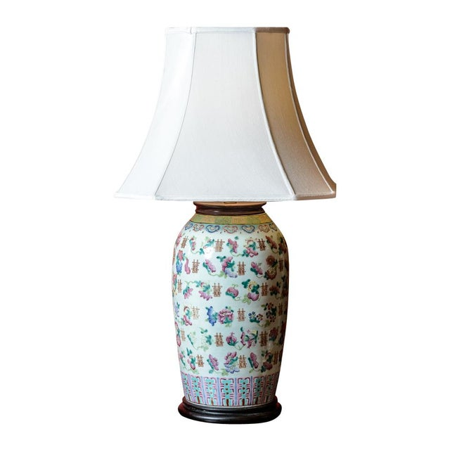 Large Asian Porcelain Table Lamp For Sale - Image 9 of 9