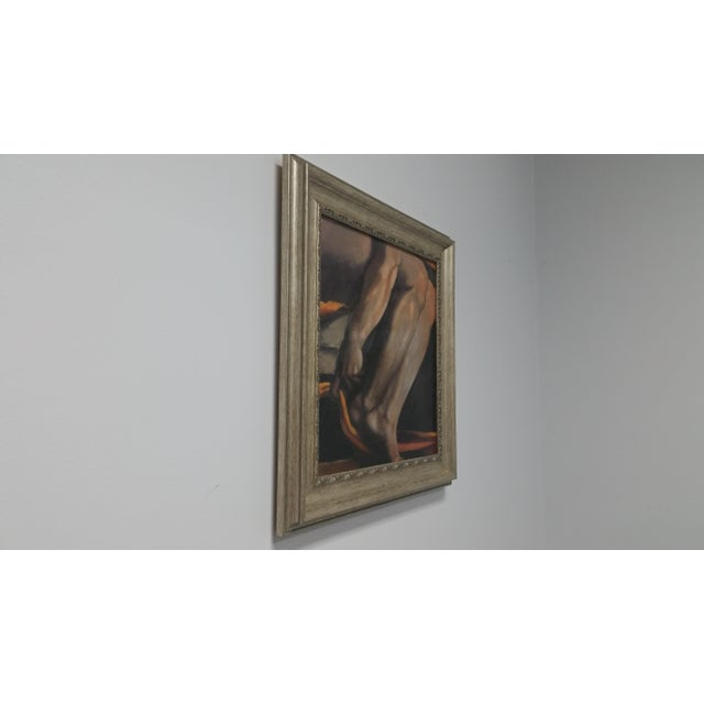 Contemporary Fresco Legs Framed Canvas Print by Portfolio Art Factory For Sale - Image 3 of 5