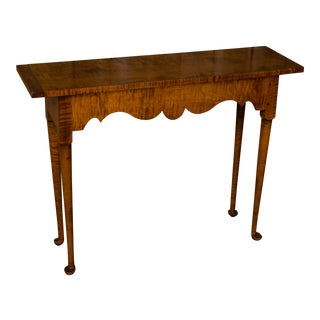 D.R. Dimes Tiger Maple Hall Table