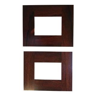 Handmade Vintage Rosewood Frames - a Pair For Sale