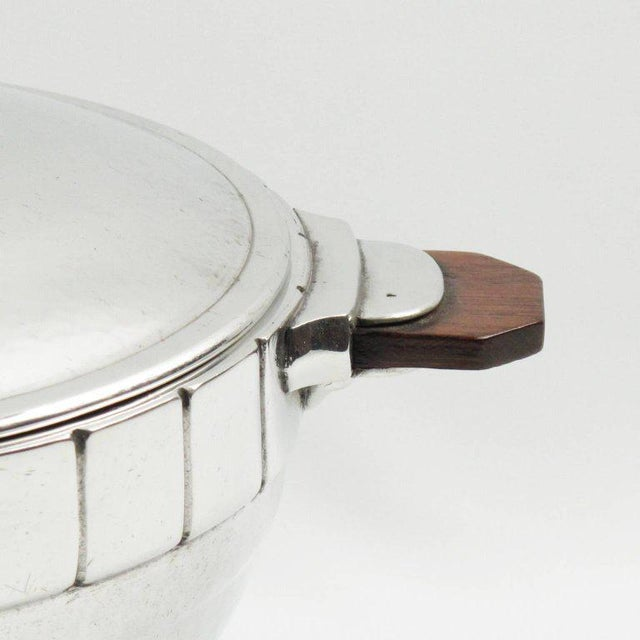 Pewter Art Deco Modernist Tureen Covered Dish Centrepiece by h.j. Geneve For Sale - Image 4 of 9