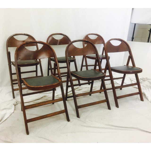 Vintage Bentwood Folding Chairs - Set of 6 For Sale - Image 4 of 11