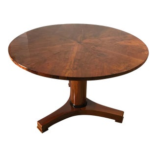 Vintage Walnut Biedermeier Table For Sale