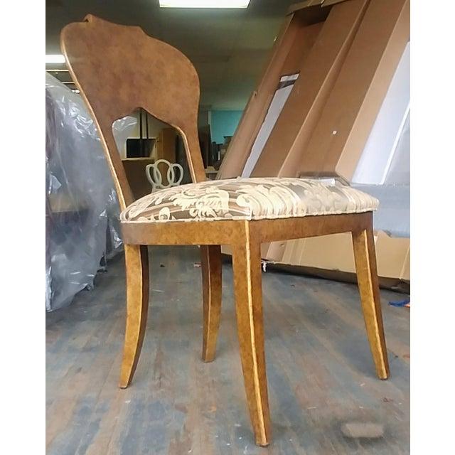 2010s Henredon Furniture Arabesque Solid Antiqued Metal Ladies Desk Chair For Sale - Image 5 of 12