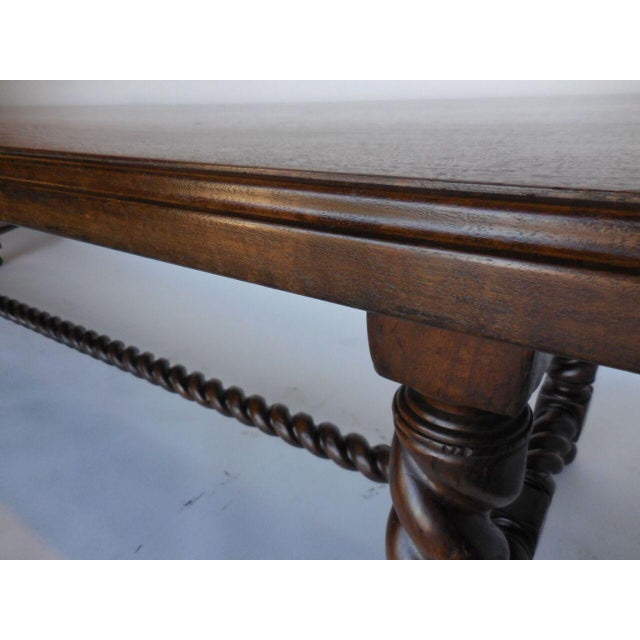Long Custom Spiral Leg Dining Table in Walnut - Image 4 of 7