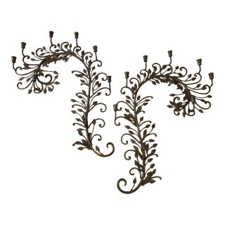 Regency Style Iron Candelabras - a Pair For Sale