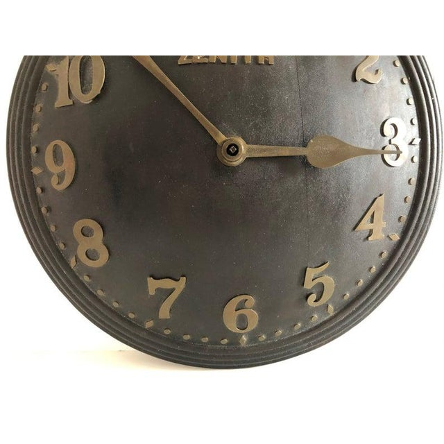 Contemporary 1930s Art Deco Zenith Wall Clock Decor For Sale - Image 3 of 12