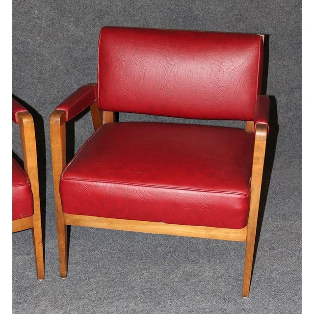 Mid 20th Century Mid-Century Modern Tiger Maple Lounge Chairs - a Pair For Sale - Image 5 of 10