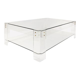 Cloud Transparent Acrylic Coffee Table For Sale