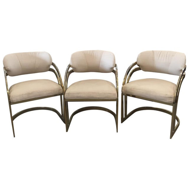 Milo Baughman-Style Vintage Armchairs - Set of 3 - Image 1 of 11