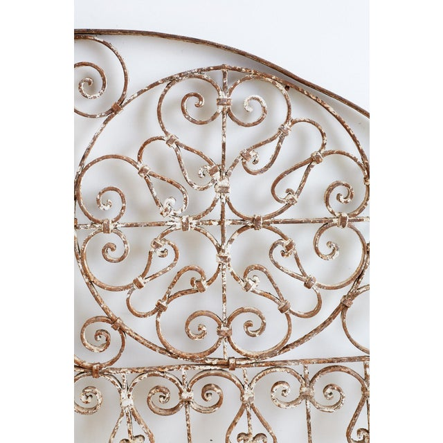 19th Century French Demilune Iron Transom Grille For Sale - Image 9 of 12