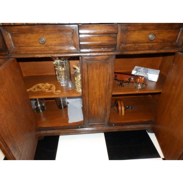 Late 19th Century 19th Century Spanish Colonial Solid Wood Sideboard For Sale - Image 5 of 7