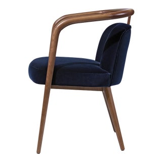 Contemporary Mid Century Style Scandinavian Modern Walnut Chair For Sale
