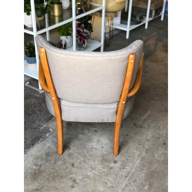 Mid 20th Century Mid Century Modern Heywood Wakefield Birch Frame Arm Chair For Sale - Image 5 of 9