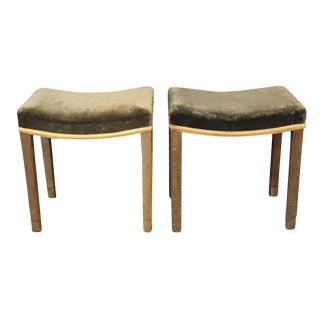 Pair of George VI Coronation Stools For Sale